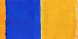 這到底是什麼跟什麼,一副藍黃色的畫竟然值10幾億新台幣,本以為僅是意外,但看了這個畫家的其他作品,哇哩勒,我...暈了...
